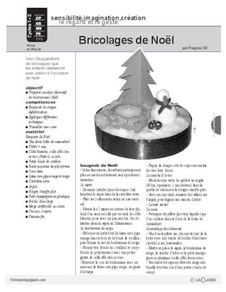 Bricolages de no l cycle 2 fichesp - Bricolage noel cycle 2 ...