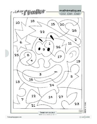 Coloriage magique 3 fichesp - Coloriage magique 3 ans ...