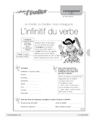 Conjugaison CE2 (1) / L'infinitif du verbe ...