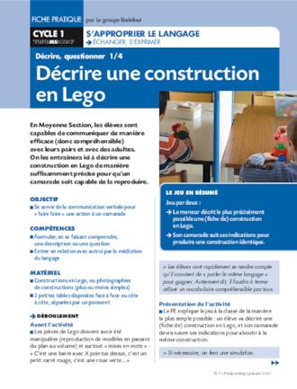 D crire une construction en lego fichesp - Construction en lego impressionnante ...
