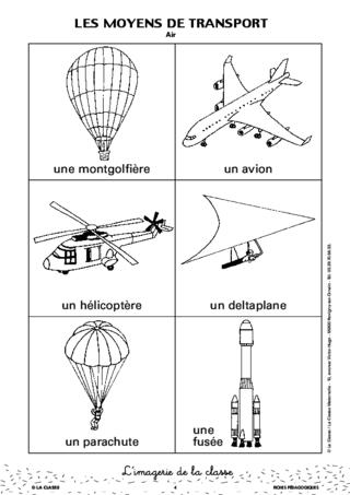 L'imagerie : les moyens de transport - FichesPédagogiques.com