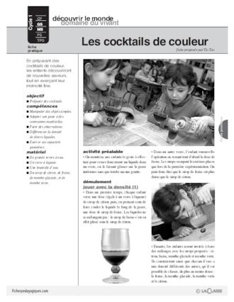 Les cocktails de couleur fichesp for Cocktail 3 couleurs