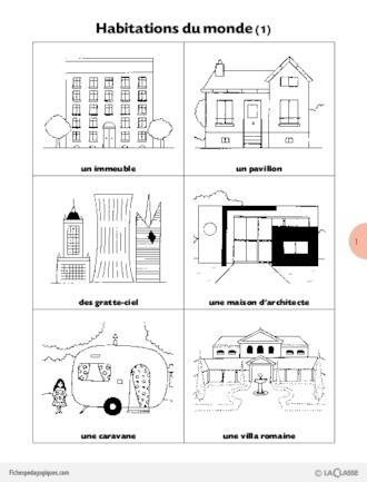 L 39 imagerie de la classe habitations du monde for Les habitations dans le monde
