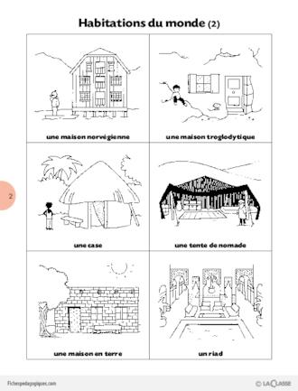 L 39 imagerie de la classe habitations du monde fichesp - Les differentes habitations dans le monde ...