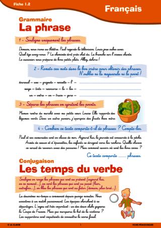 Passerelle CE1 CE2 français - FichesPédagogiques.com
