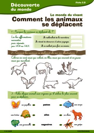 Passerelle CE1 CE2 vivant sciences - FichesPédagogiques.com