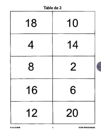 Puzzle des tables de multiplication fichesp for Multiplication de 3