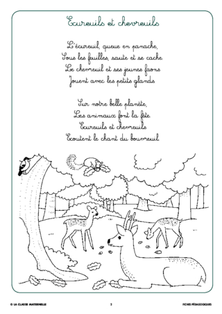 Syllasons gs animaux de la for t fichesp - Coloriage manon ...
