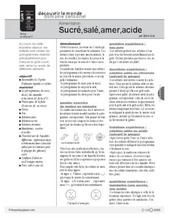 Alimentation sucr sal amer acide fichesp - Pamplemousse amer ou acide ...