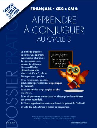 Apprendre A Conjuguer Fichespedagogiques Com