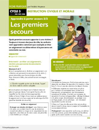 Apprendre porter secours 3 les premiers secours fichesp - Apprendre a porter secours cycle 3 ...
