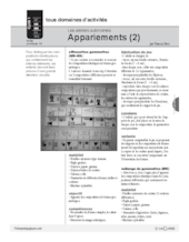 Ateliers autonomes (14) / Appariements (2)