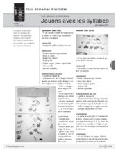 Ateliers autonomes (4) / Syllabes