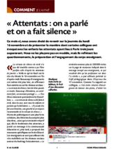 Attentats : on a parlé et on a fait silence