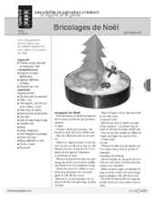 Bricolages de Noël (Cycle 1)