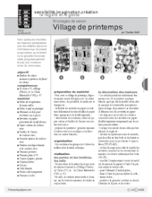 Bricolages de saison : Village de printemps