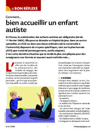 Comment bien accueillir un enfant autiste