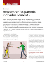 Comment rencontrer les parents individuellement ?