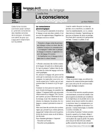 Conscience phonologique