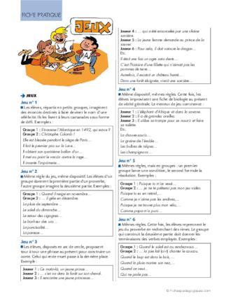 Conseil De Revisions 7 Les Valeurs Du Present De L Indicatif Fichespedagogiques Com