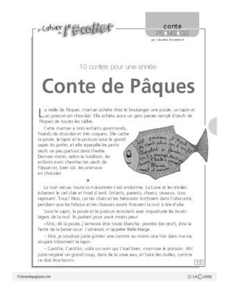 Conte De Pâques Conte Fichespédagogiquescom