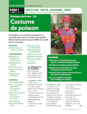 Costume de poisson