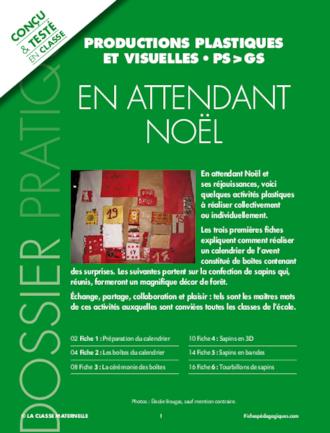 Calendrier Ps.Productions Plastiques Et Visuelles Autour De Noel Pour Ps