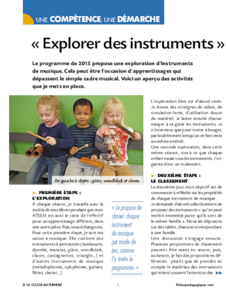 Explorer des instruments