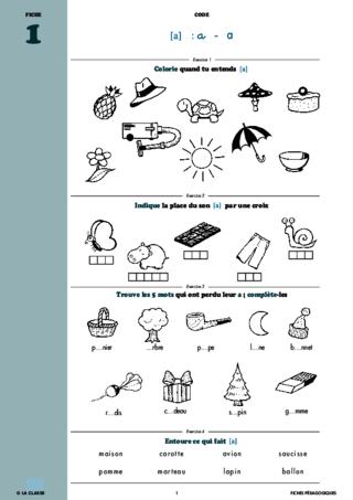 Francais Cp Phonologie Et Code Cahiers Malins Fichespedagogiques Com