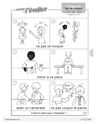 Favorit Thème Citoyenneté / Règles de vie - FichesPédagogiques.com MG14