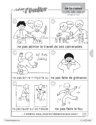 Sehr Imagerie: les règles de vie (2) - FichesPédagogiques.com QH24