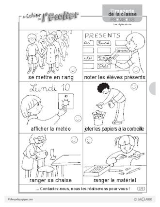 Sehr Imagerie: les règles de vie - FichesPédagogiques.com QH24