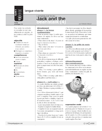 Jack and the beanstalk (4) / L'anglais par le jeu