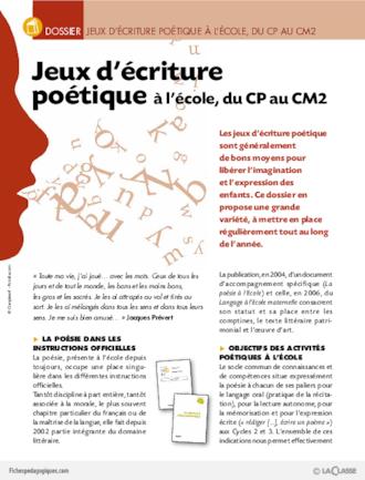 Poésie De Printemps Fichespédagogiquescom