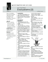 Jeux d'expression (10) / Evaluation (2)