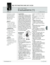 Jeux d'expression (9) / Evaluation (1)