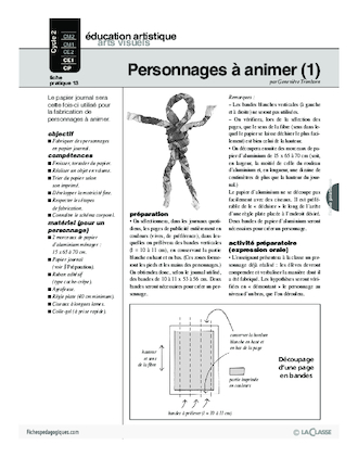 Journal (13) / Personnages à animer (1)