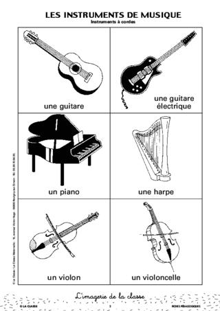 L 39 imagerie les instruments de musique for Instruments de musique dax