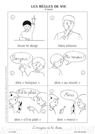Turbo Les règles de vie à l'école en images - FichesPédagogiques.com GV02