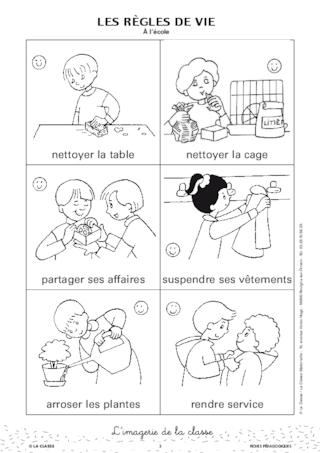 Sehr Les règles de vie à l'école en images - FichesPédagogiques.com QH24