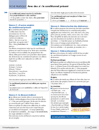 La conjugaison au Cycle 3 (3) / Le conditionnel présent