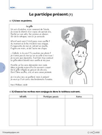 La Conjugaison Au Cycle 3 9 Le Participe Present Fichespedagogiques Com