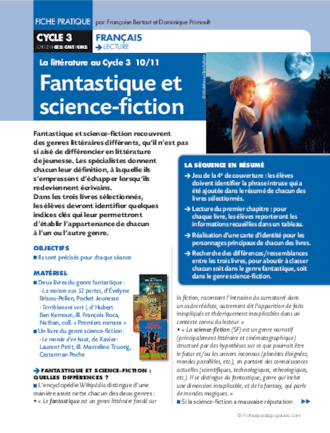 La littérature au Cycle 3 (10) /  Fantastique et science-fiction
