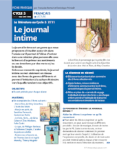 La littérature au Cycle 3 (7) / Le Journal intime