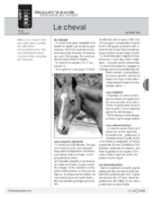 Le cheval (2) : documentation