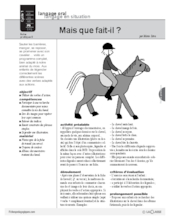 Le cheval (5) : langage