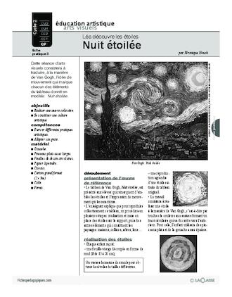 Extrem Léa découvre les étoiles (3) / Nuit étoilée - FichesPédagogiques.com HW99