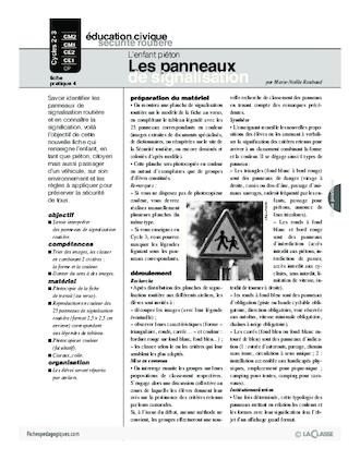 Populaire préféré L'enfant piéton (3) / Les panneaux de signalisation #IF_62
