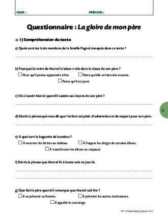 les arts du langage 10 la gloire de mon p232re