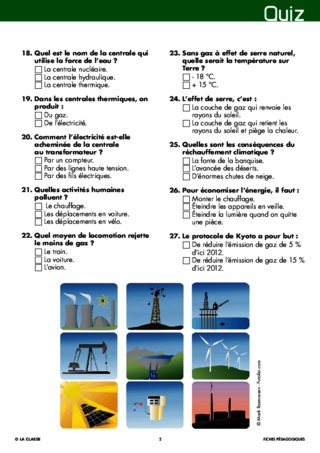 Les énergies (18) quiz final